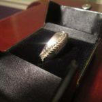 Hand-stitched Baseball Ring close-up #3