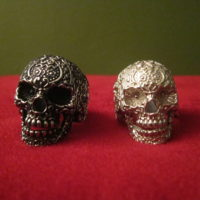 Skull rings - front view