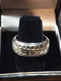 Silver Football Ring