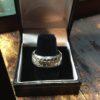 Silver Football Ring closeup