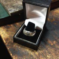 Silver Football Ring