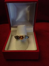 Beautiful SIlver ring with Citrine gemstone. Inspired by Harry Potter.